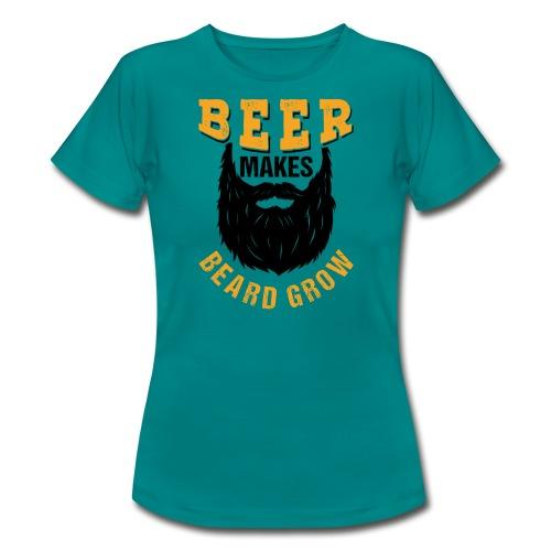 Beer Makes Beard Grow Funny Gift - Frauen T-Shirt