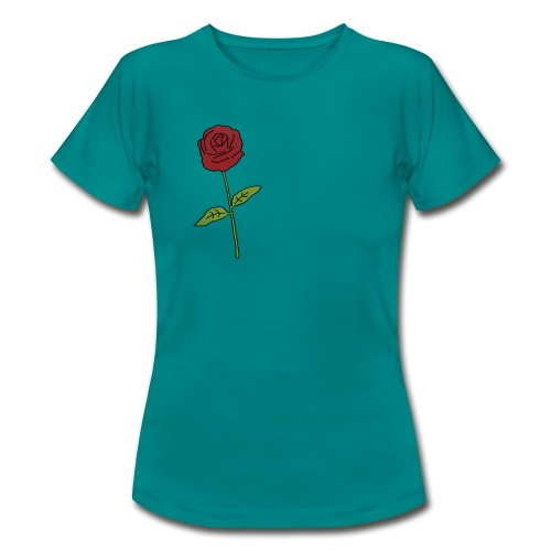 Rose: Text Einfügen - Frauen T-Shirt