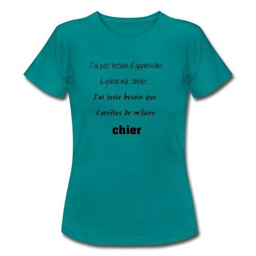 Colère - T-shirt Femme