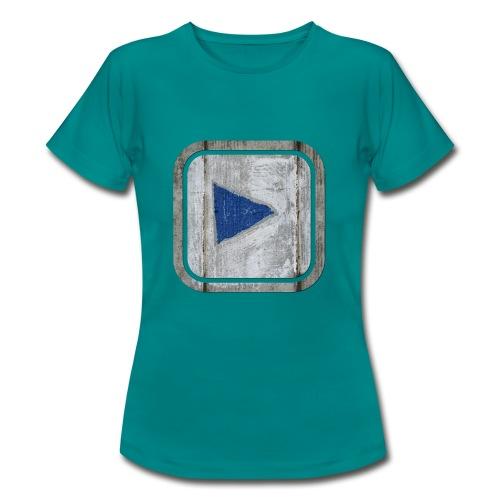 hier entlang ! - Frauen T-Shirt