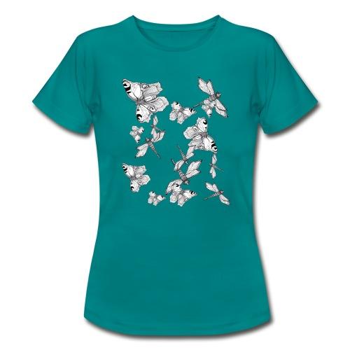 Libelle und Schmetterling - Glaube und Wahrheit - Frauen T-Shirt