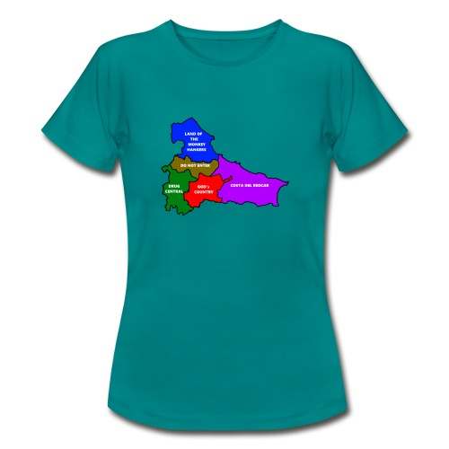 Teesside map - Women's T-Shirt