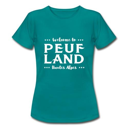 Peuf Land 05 - Hautes-Alpes - White - T-shirt Femme