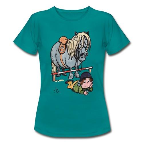 Thelwell Reiterin Liegt Hinter Dem Sprung - Frauen T-Shirt