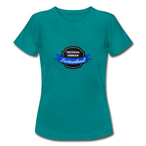 TFS Ruban noir et bleu - T-shirt Femme