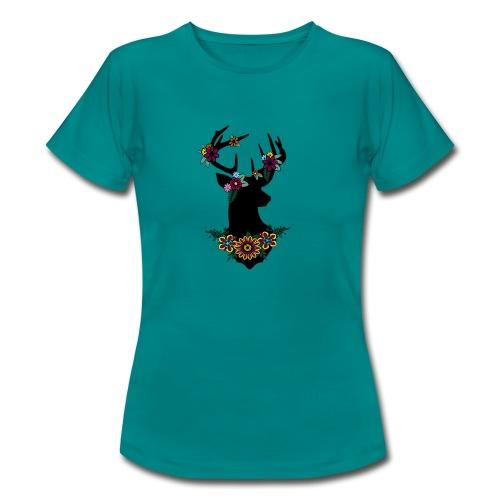 Bloemen ree - Vrouwen T-shirt