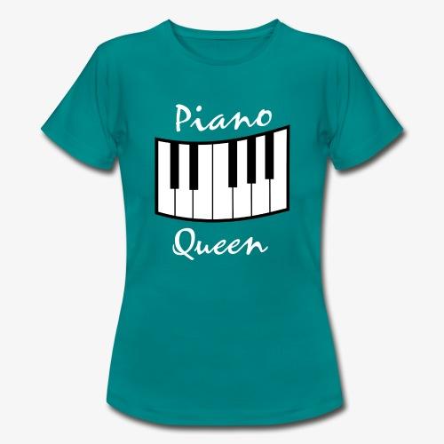 piano queen design white - Frauen T-Shirt