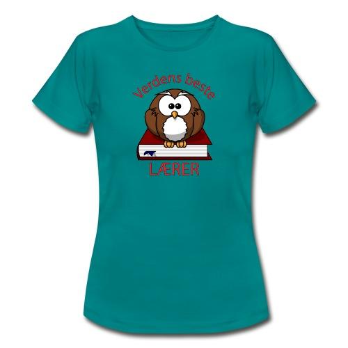 Verdens beste lærer - T-skjorte for kvinner