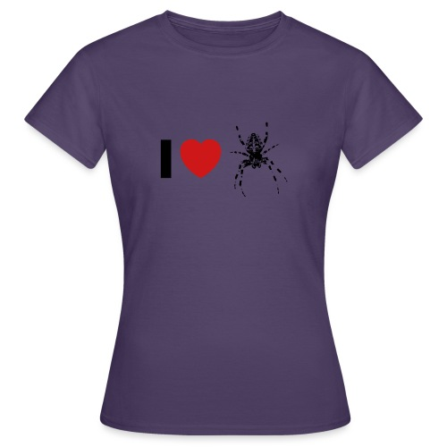 I ❤️ Kreuzspinne - Frauen T-Shirt