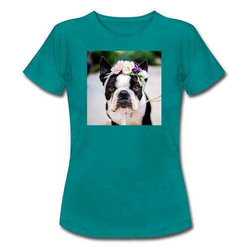 Blumenhund - Frauen T-Shirt