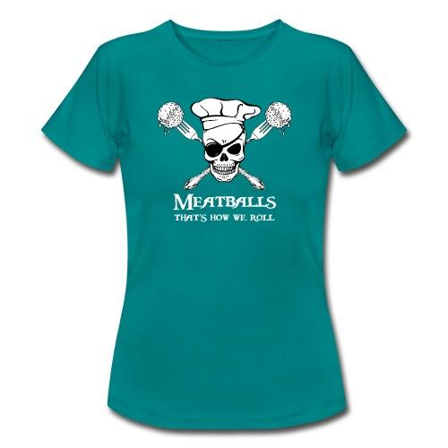 Meatballs - tinte scure - Maglietta da donna