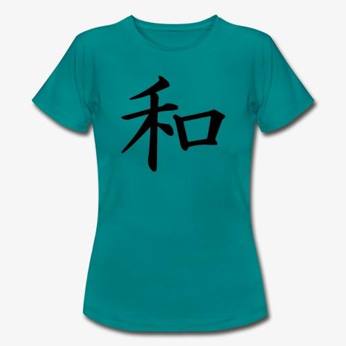 Japanische Schrift, Frieden/ Peace Motiv T-Shirt - Frauen T-Shirt