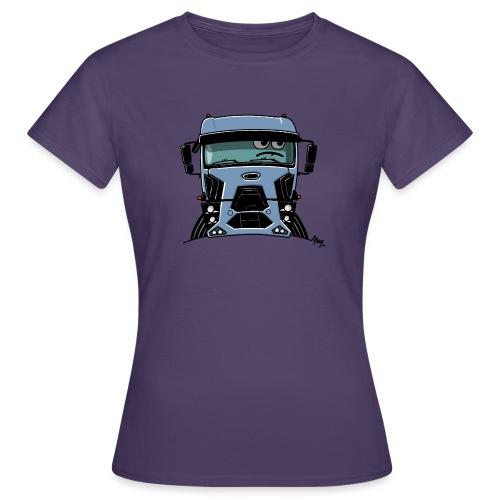 0812 F truck blue - Vrouwen T-shirt
