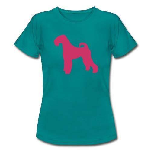 PINK Airedale Terrier - Women's T-Shirt
