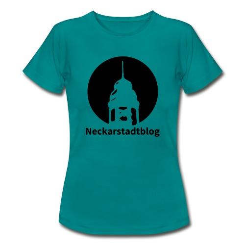 Logo mit Schriftzug invertiert (Alternative Farben - Frauen T-Shirt