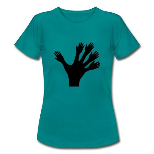1000 Hände viel Arbeit wackeln machen tun schnell - Frauen T-Shirt
