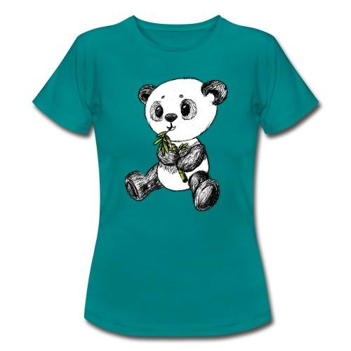 Panda Bär farbig scribblesirii - Frauen T-Shirt