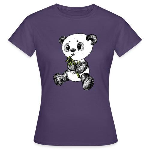Panda bjørn farvet scribblesirii - Dame-T-shirt