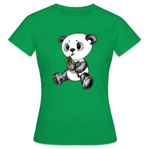 Panda Karhu värillinen scribblesirii - Naisten t-paita