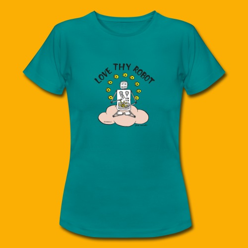 Dat Robot: Love Thy Robot Buddha Light - Vrouwen T-shirt