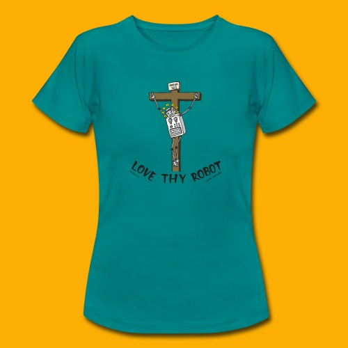 Dat Robot: Love Thy Robot Jesus Light - Vrouwen T-shirt