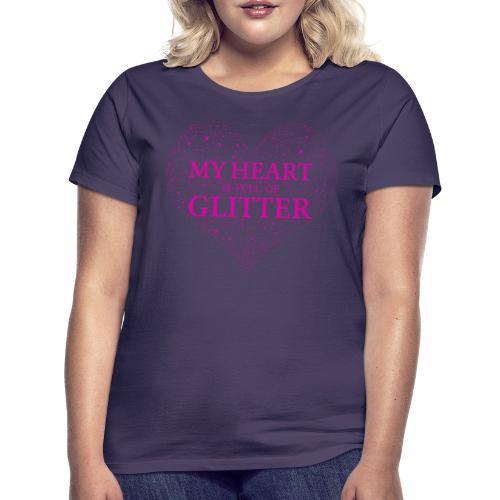 Herz Glitzer - Frauen T-Shirt