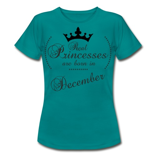 Real Princesses black December - Frauen T-Shirt