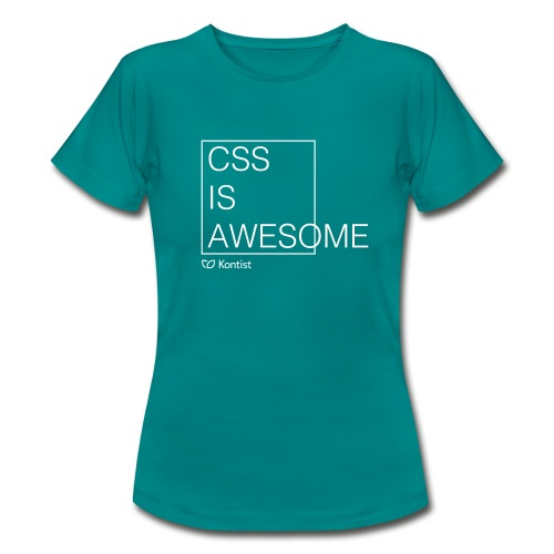 css is awesome - Frauen T-Shirt