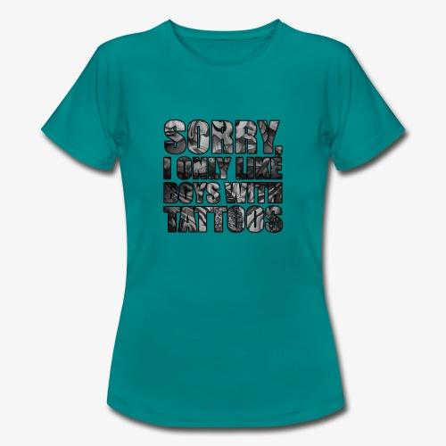 sorry boys - Camiseta mujer