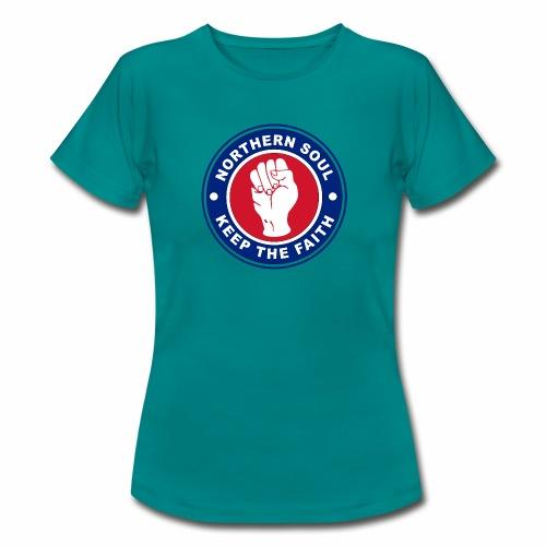 Norther Soul Keep the Faith Logo Union Flag Colour - Women's T-Shirt