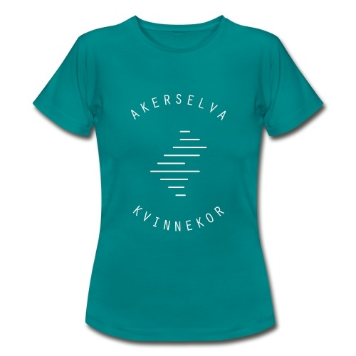 Akerselva kvinnekor hvit logo - T-skjorte for kvinner