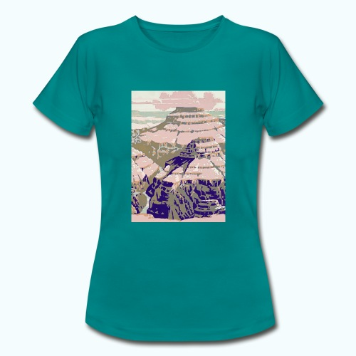 Rocky Mountains Vintage Travel Poster - Women's T-Shirt