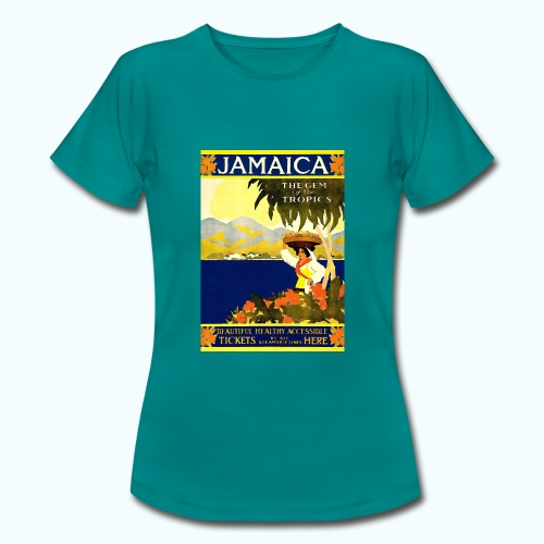 Jamaica Vintage Travel Poster - Women's T-Shirt