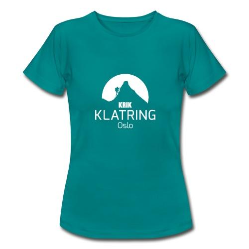 KRIK Klatring Logo foran - T-skjorte for kvinner