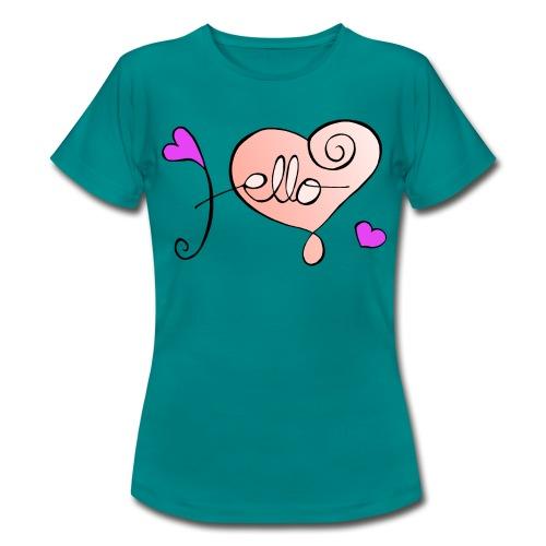 Hello Herz. - Frauen T-Shirt