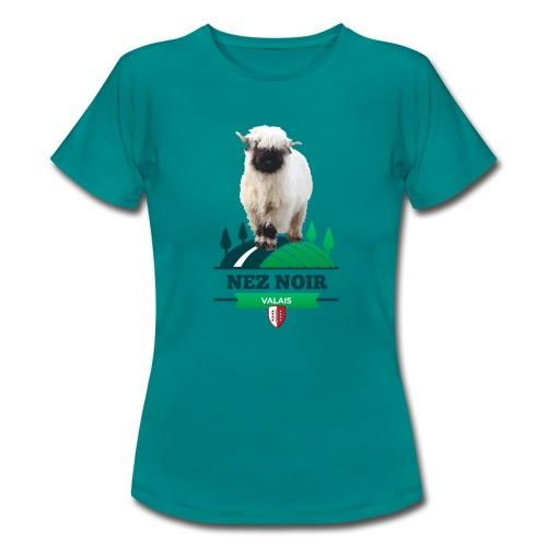 Mouton du Valais - Nez noir - Frauen T-Shirt