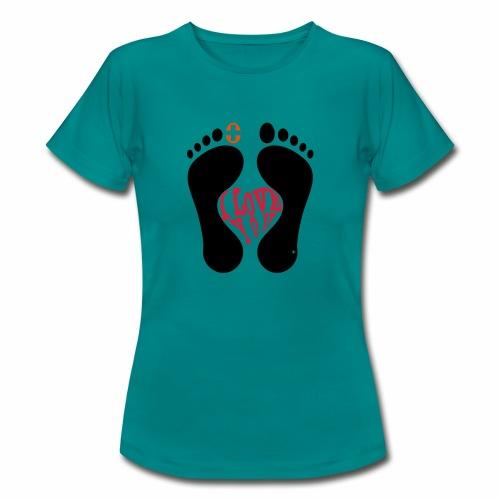 Barfuss-Logo i love you - Frauen T-Shirt