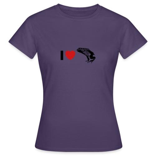 I ❤️ Pfeilgiftfrosch - Frauen T-Shirt