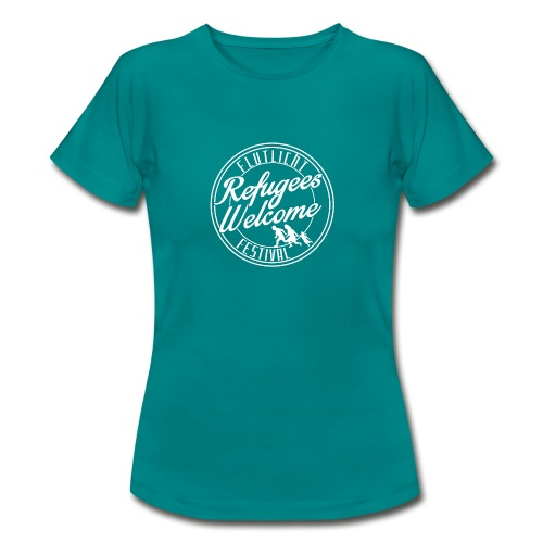 logo_refugees_weiß - Frauen T-Shirt
