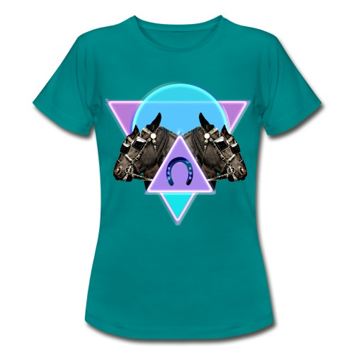 Neon horses - Women's T-Shirt
