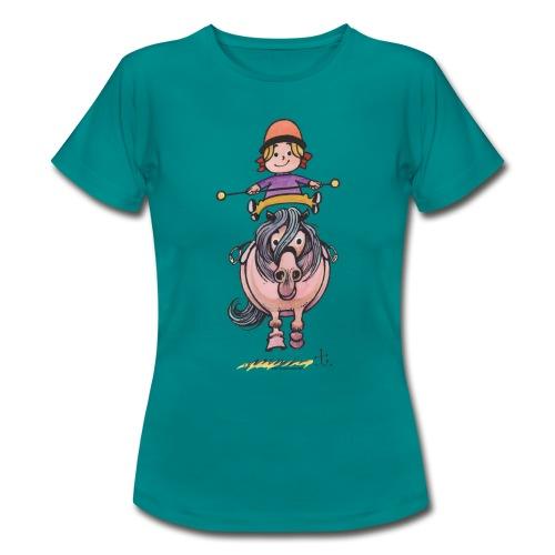 Thelwell Reiterin Balanciert Auf Süßem Pony - Frauen T-Shirt