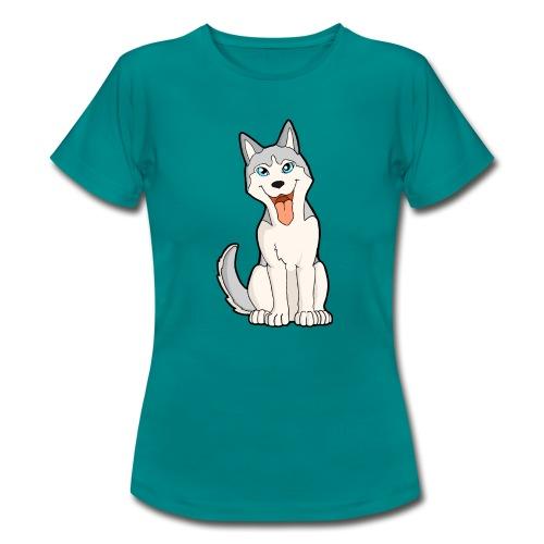 Husky grigio occhi azzurri - Maglietta da donna