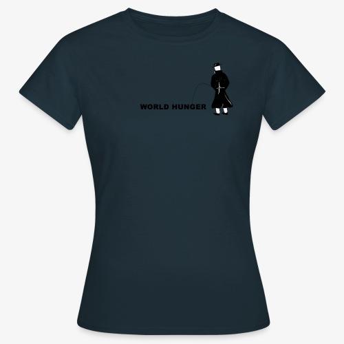 Pissing Man against World Hunger - Frauen T-Shirt