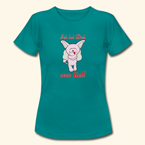 Zwergschlammelfen - Ich hab Dich so lieb! - Frauen T-Shirt