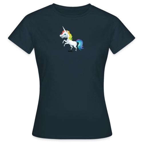 Rainbow enhjørning - T-skjorte for kvinner