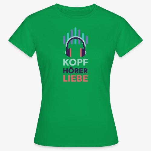 kopfhoererliebe bunt - Frauen T-Shirt
