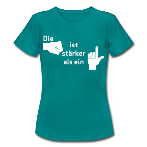 Faust vs. Finger 1 - Frauen T-Shirt