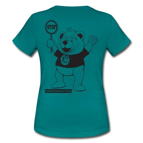 FUPO der Bär. Druckfarbe schwarz - Frauen T-Shirt