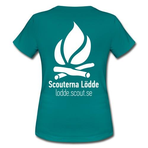 Lödde Tryck Logo (Blå) - T-shirt dam