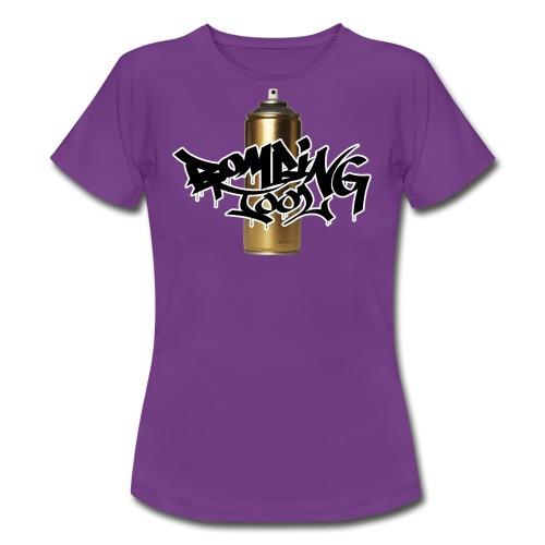 Golden Spray Can Bombing Tool - Frauen T-Shirt